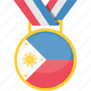 achievement, badge, philippines, prize, winner icon