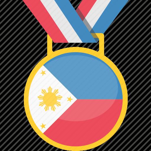 achievement, badge, philippines, prize, winner icon