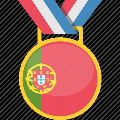 champion, portugal, prize, trophy icon