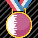 qatar, medal, prize, award