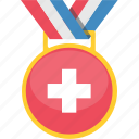 country, flag, medal, switzerland icon