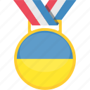 badge, medal, prize, ukraine icon