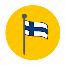 country, europe, finland, finland flag, flag icon