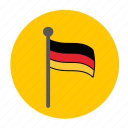 country, europe, flag, german, germany icon