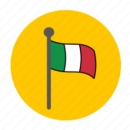 country, europe, flag, italy icon