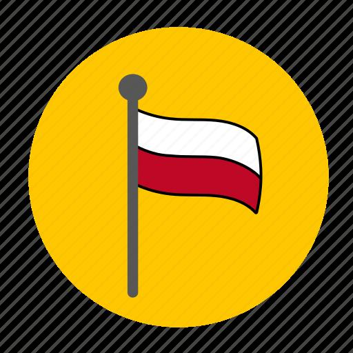 country, europe, flag, poland, polish icon