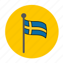 flag, sweden, swedish, swedish flag icon