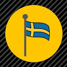 flag, sweden, swedish, swedish flag icon