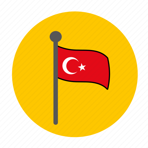 country, flag, turkey, turkey flag, turkish flag icon
