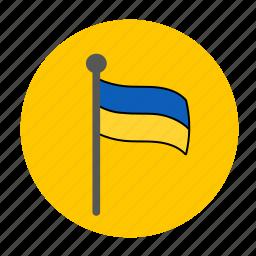 country, flag, ukraine, ukraine flag, ukrainian, ukranian flag icon
