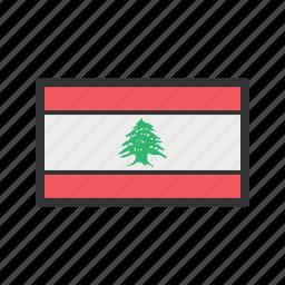 celebration, day, flag, freedom, independence, lebanon, national icon