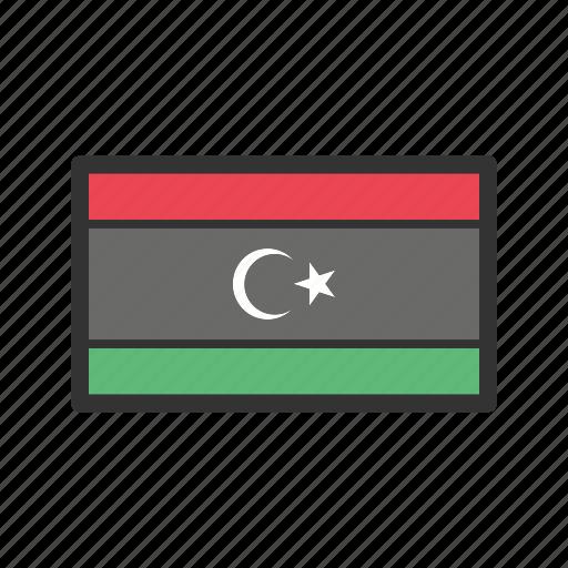 celebration, day, flag, freedom, independence, libya, national icon