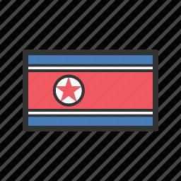celebration, day, flag, freedom, independence, national, north korea icon
