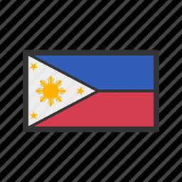 celebration, day, flag, freedom, independence, national, philippines icon