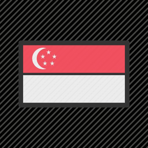 celebration, day, flag, freedom, independence, national, singapore icon