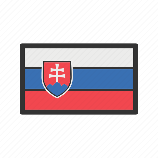 celebration, day, flag, freedom, independence, national, slovakia icon