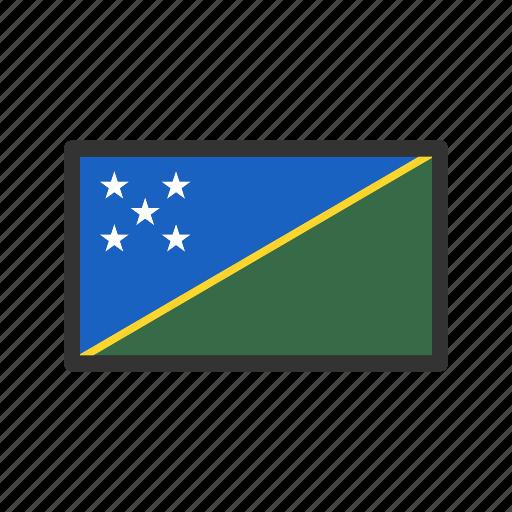 celebration, day, flag, freedom, independence, national, soloman islands icon