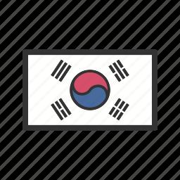 celebration, day, flag, freedom, independence, national, south korea icon