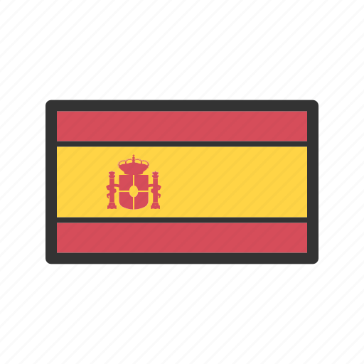 celebration, day, flag, freedom, independence, national, spain icon