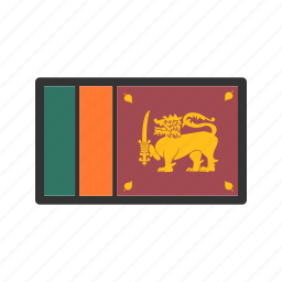celebration, day, flag, freedom, independence, national, sri lanka icon