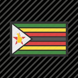 celebration, day, flag, freedom, independence, national, zimbabwe icon