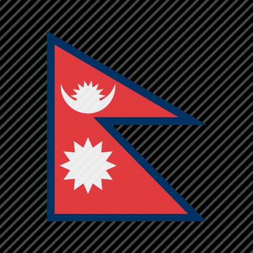 celebration, day, flag, freedom, independence, national, nepal icon