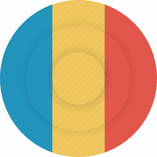country, flag, geography, national, nationality, romania icon