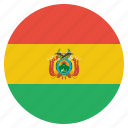 bolivia, bolivian, country, flag, national icon