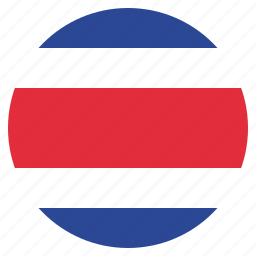 costa, country, flag, national, rica icon