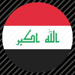 country, flag, iraq, iraqi, national icon