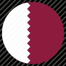 country, flag, national, qatar icon