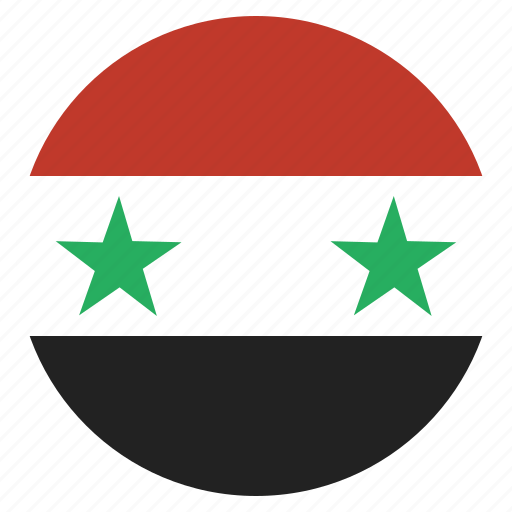 country, flag, national, syria, syrian icon