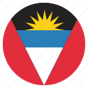 antigua, barbuda, country, flag, national icon