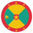 country, flag, grenada, national