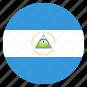 country, flag, national, nicaragua icon