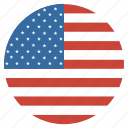united, usa, states, flag, circle, america