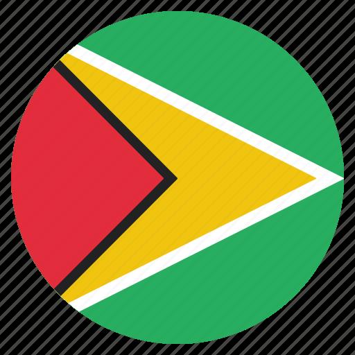 country, flag, guyana, guyanese, national icon