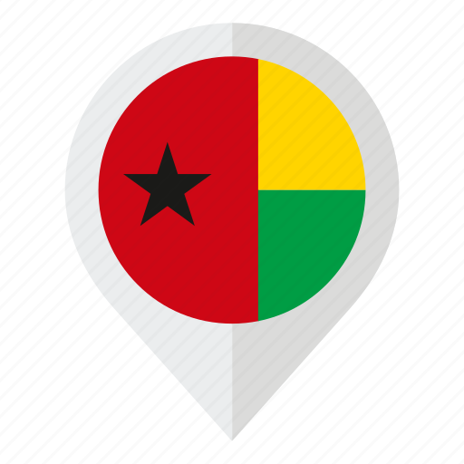 country, flag, geolocation, guinea bissau, map marker icon