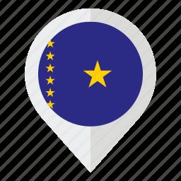 africa, congo, country, democratic republic of congo, flag, geolocation, map marker icon