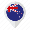 country, flag, geolocation, map marker, new zealand, new zealand flag icon