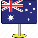 australia, countries, country, flags, sign, travel, world icon