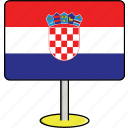 countries, country, croatia, flags, sign, travel, world icon