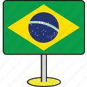 brazil, countries, country, flags, sign, travel, world icon