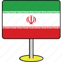 countries, country, flags, iran, sign, travel, world icon