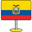 countries, country, ecuador, flags, sign, travel, world icon