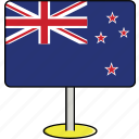 country, flags, new, sign, travel, world, zealand icon