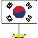 country, flags, korea, sign, south, travel, world icon