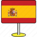 countries, country, flags, sign, spain, travel, world icon