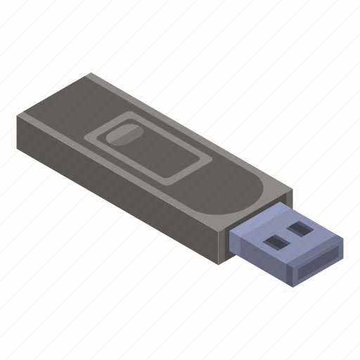 Cartoon, drive, flash, isometric, memory, stick, usb icon - Download on Iconfinder