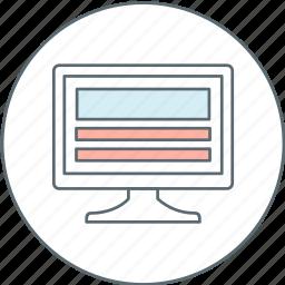 computer, design, device, monitor, web icon